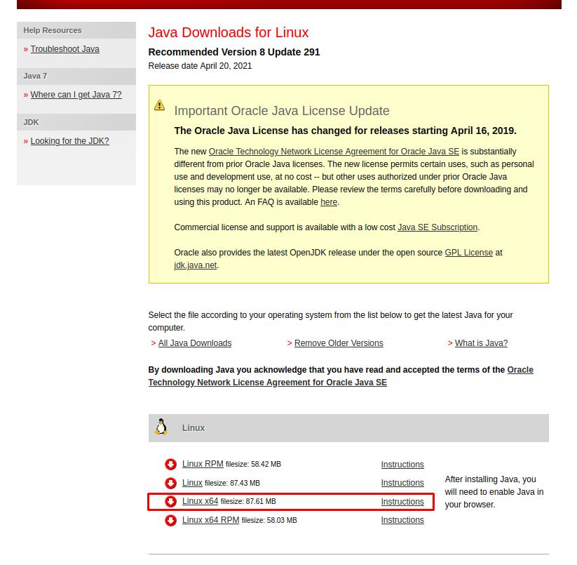 java jre download link